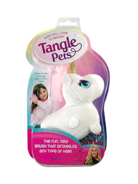 Tangle Pets Brush, Choose Sparkles the Unicorn or Cupcake the Cat