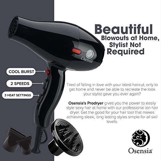 Professional Hair Dryer with Diffuser
