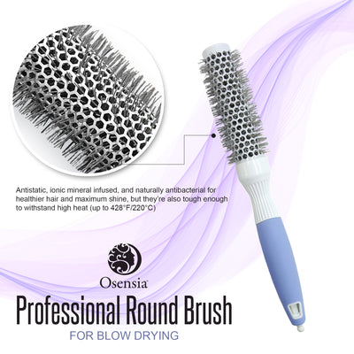 Ionic Ceramic Round Brush for Blow Drying – Extra Small (1 Inch/ 25mm)