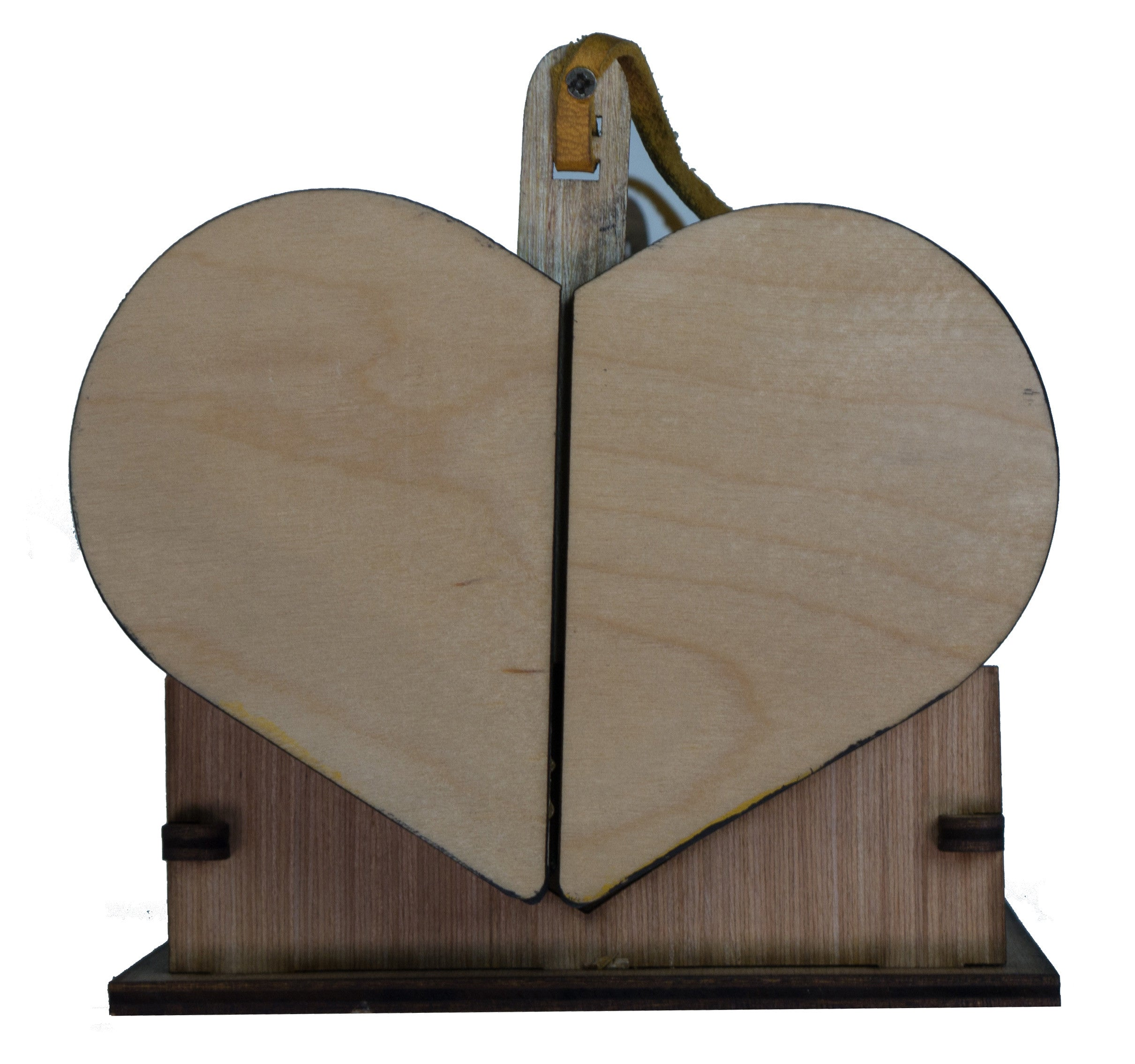 The HEART wooden purse