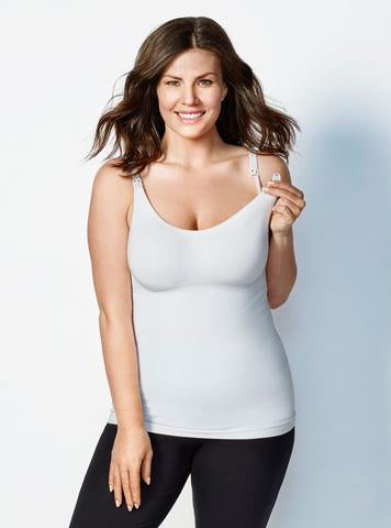 BRAVADO - Camisole d'allaitement Body Silk Seamless - Blanc (LIQUIDATION FINALE, SANS EMBALLAGE)
