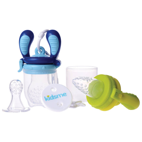 KIDSME • Ensemble de tétines de nutrition • Aquamarine & Lime