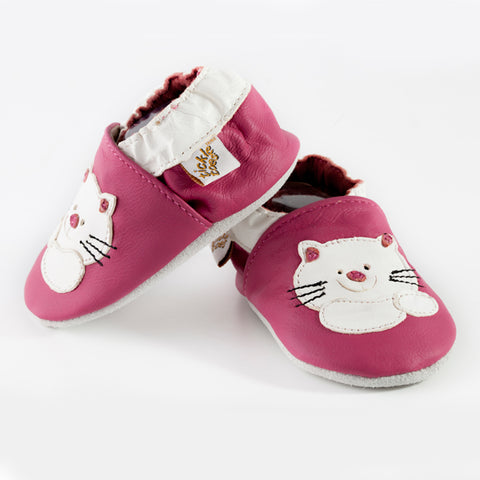 Tickle Toes • Chaussures souples en cuir • Chat