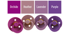 Bibs • Suces en caoutchouc naturel (paquet de 2) • Purple