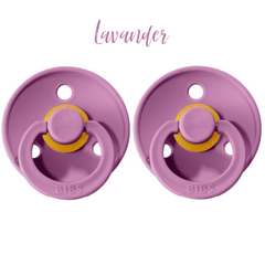 Bibs • Suces en caoutchouc naturel • Duo Lavender