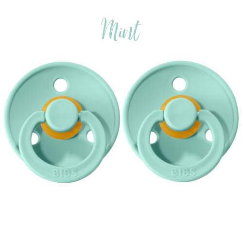 Bibs • Suces en caoutchouc naturel • Duo Mint