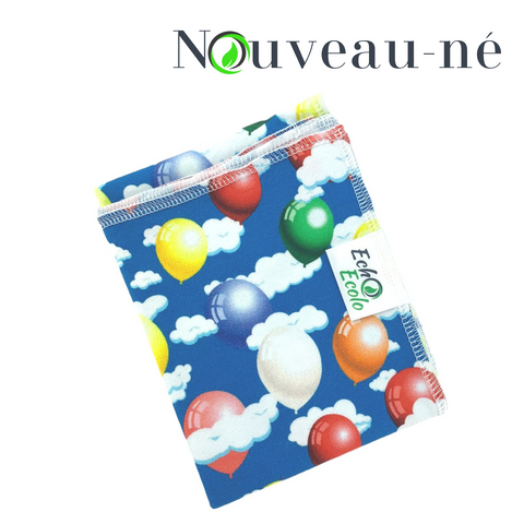 ECHO ECOLO • Couche plate • SIMPLE • NOUVEAU-NÉ • Motif • Party de ballons