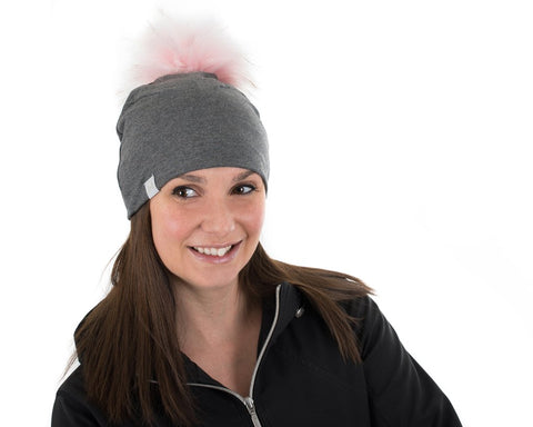 Tuque à pompon interchangeable Lox Lion - Origine - Gris