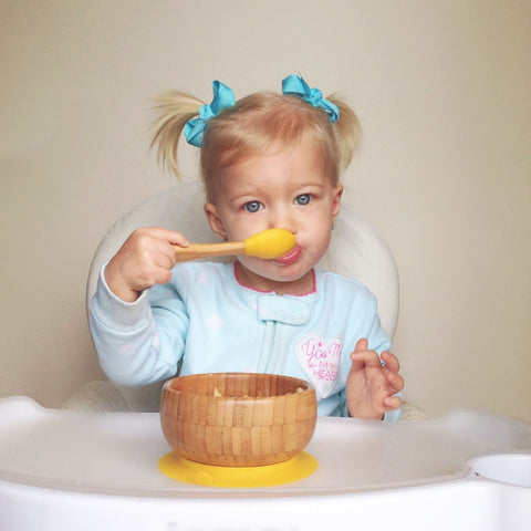 AVANCHY • Bamboo suction bowl with spoon • Baby (4M+)