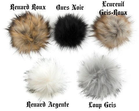 Tuque à pompon interchangeable Lox Lion - 3 Saisons - Moutarde