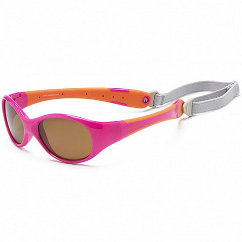 KOOLSUN FLEX• Lunettes de soleil flexibles • Hot Pink Orange