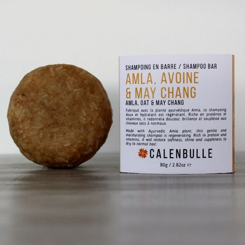 CALENBULLE • Shampoing en barre • Amla, avoine & May Chang