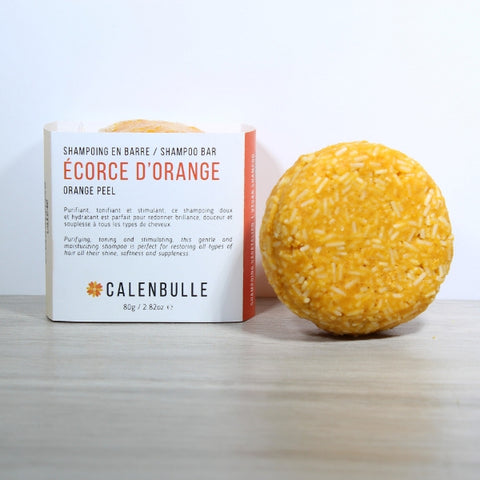 CALENBULLE • Shampoing en barre • Écorce d'orange