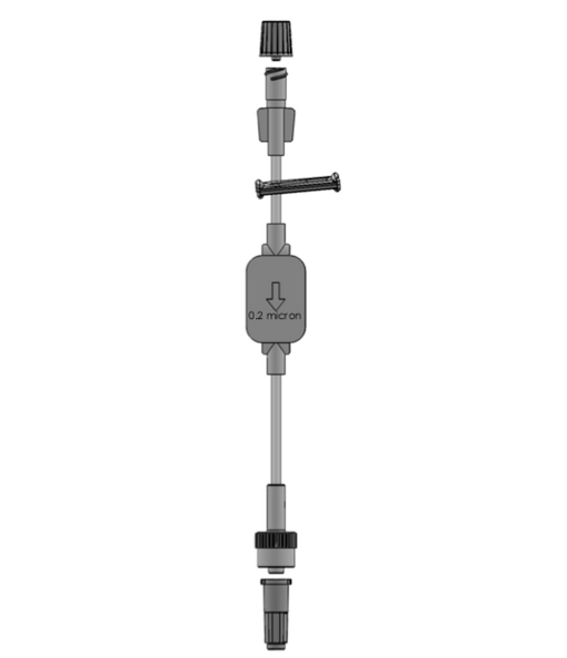 Needle Free Valve - FlowArt Extension Line With 0.2 Micron Baby Filter
