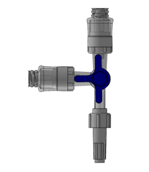 Needle Free Valve - FlowArt Three Way Needle Free Stopcock