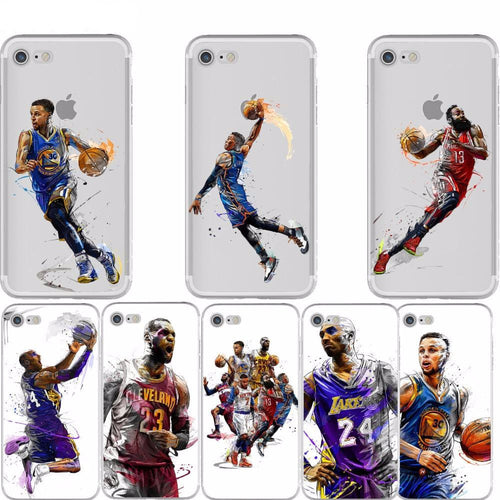 NBA Basketball Case For iphone 6 6plus 7 7plus 5S SE