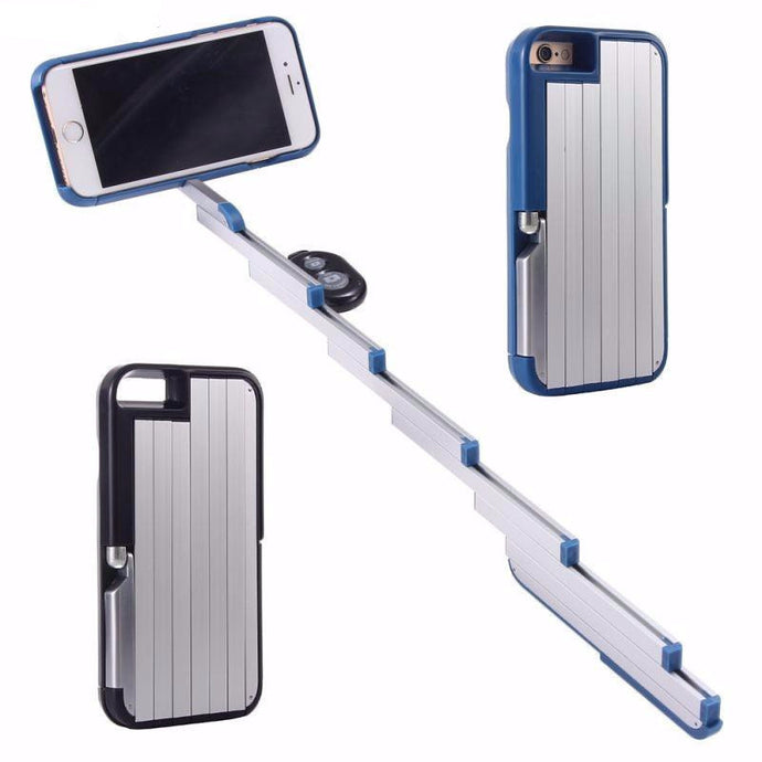 Amazing Selfie Stick Case For iPhones With Bluetooth Remote Control