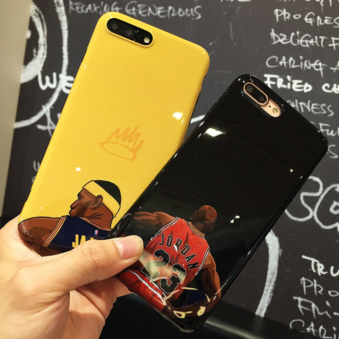 Jordan and Lebron NBA Cases For Apple iPhone 6 6S Plus 7 7 Plus
