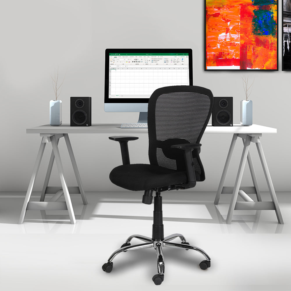 CRYSTAL Mid Back Mesh Efficient Office Chair