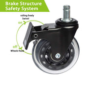 "3"" Rollerblade Brake Mute Wheels (Pack of 5)"