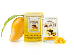 Ouayun Mr. Herb Lozenges Mango 20 pcs., Растительные пастилки от кашля и боли в горле с манго Mr. Herb 20 шт.
