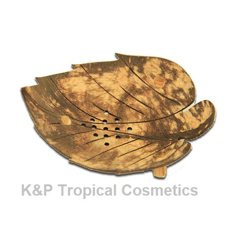 "Coconut Leaf Soap Tray Мыльница ""Листик"" из скорлупы кокоса"