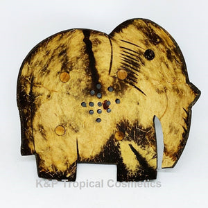 "Coconut Elephant Soap Tray Мыльница ""Слоник"" из скорлупы кокоса"