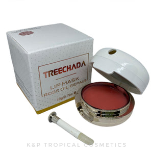 Treechada Rose Oil Repair Lip Mask 13 g., Восстанавливающая маска для губ с маслом розы 13 гр.