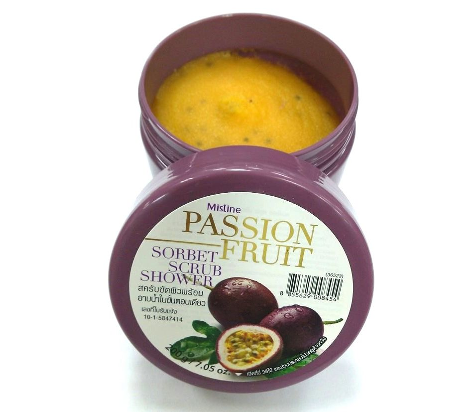 Mistine Passion Fruit Sorbet Scrub Shower 200 g., Скраб-щербет с маракуйей 200 гр.