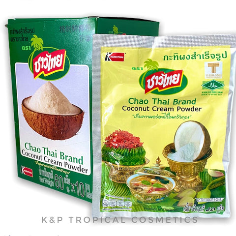 Chao Thai Brand Coconut Cream Powder 60 g.*10 pcs., Сухое кокосовое молоко CHAO THAI 60 гр.*10 шт.