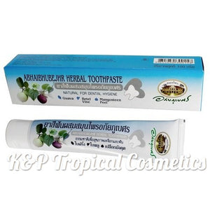 Abhai Herbal Toothpaste with Mangosteen and guava 100 g., Натуральная зубная паста с экстрактами мангостина и гуавы 100 гр.
