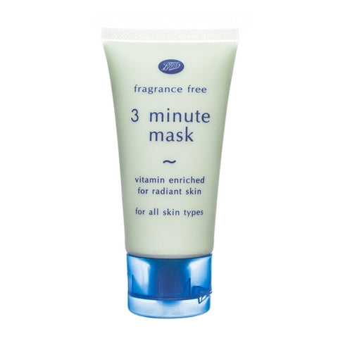Boots Fragrance Free 3-minute facial mask 50 ml., Натуральная маска для лица 3-х минутка 50 мл.