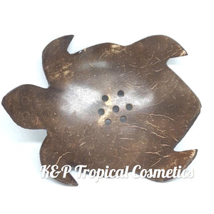 "Coconut Turtle Soap Tray Мыльница ""Черепашка"" из скорлупы кокоса"