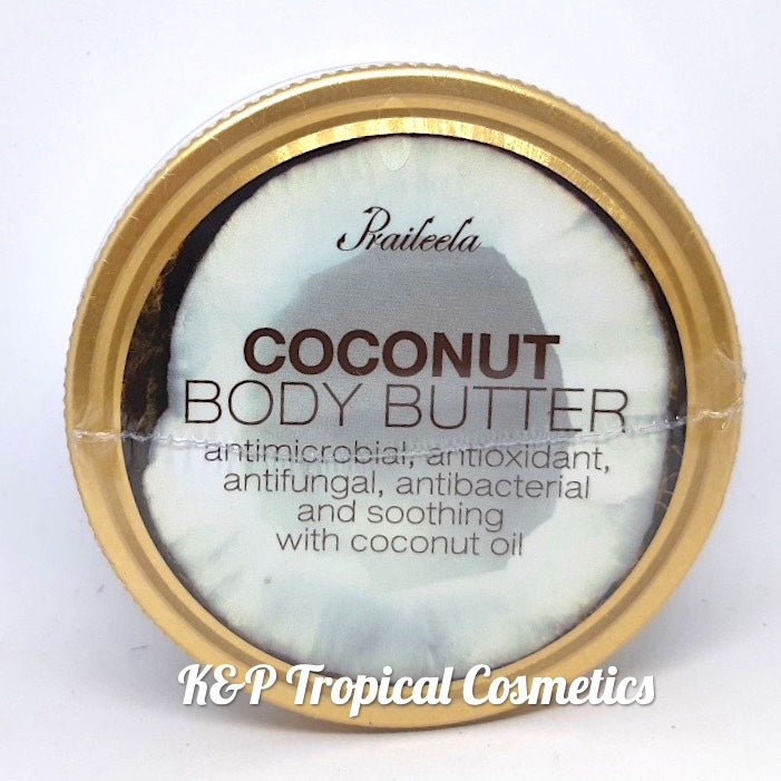 "Praileela Coconut Body Butter 250 g., Органический баттер для тела ""Кокос"" 250 гр."