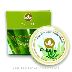 D-lite Aloe Vera Cream for skin that need revitalising 25 g., Натуральный крем с Алое Вера для лица и тела 25 гр.