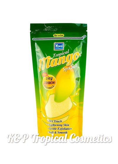 Siam Yoko Tropical Mango Spa Salt 300 g., Соляной скраб для тела с тайским манго 300 гр.