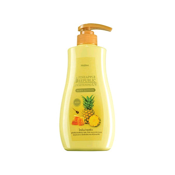 "Mistine Pineapple Republic Whitening Body Lotion 400 ml., Лосьон для тела ""Ананасовая республика"" 400 мл."