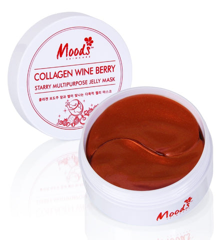 Belov Moods Collagen Wine Berry Starry Multipurpose Jelly Mask 60 patches Гидрогелевые патчи с коллагеном, вином и экстрактами ягод 60 шт.