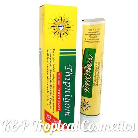 Thipniyom Herbal Toothpaste 35 g., Традиционная тайская зубная паста на травах 35 гр.