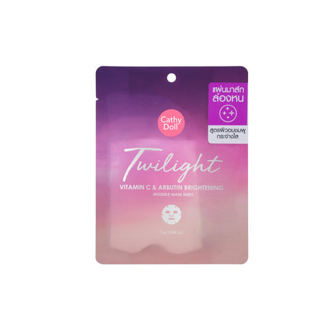 Karmart Cathy Doll Twilight Vitamin C & Arbutin Brightening Invisible Mask Sheet 25 g., Осветляющая тканевая маска с витамином С и арбутином 25 гр.