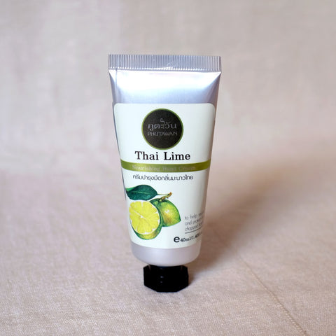 "Phutawan Thai Lime Hand Cream 40 g., Натуральный крем для рук ""Тайский Лайм"" 40 гр."