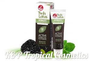 Twin Lotus Herbaliste Active Charcoal Toothpaste 50 g., Натуральная зубная паста тройного действия с бамбуковым углем и травами 50 гр.