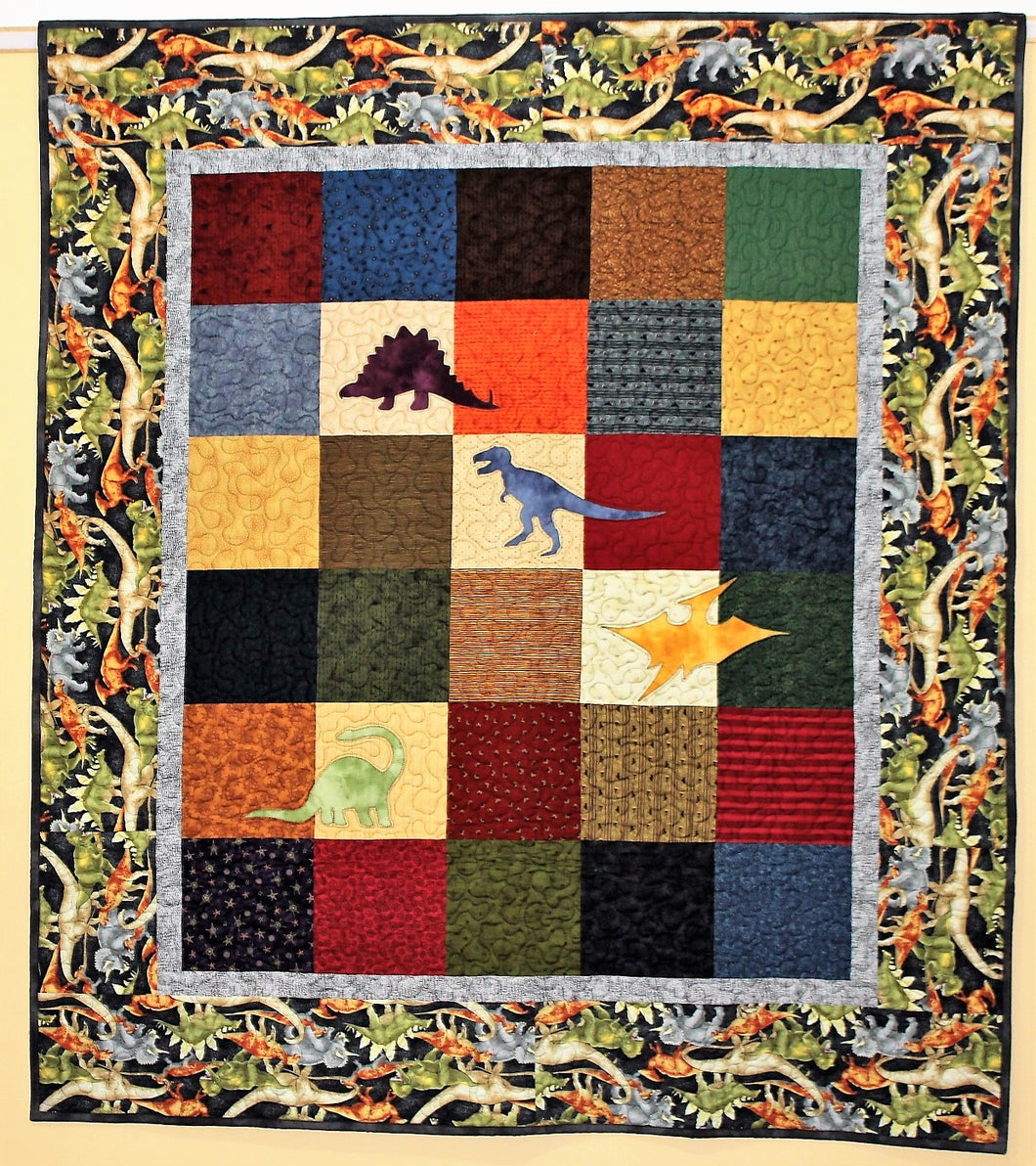 Dinosaur Quilt by The Gourmet Quilter