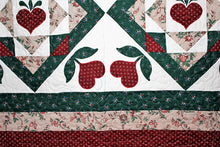 Hearts in Flowers Quilt by The Gourmet Quilter