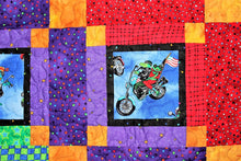 Frogs On Bikes Quilt by The Gourmet Quilter