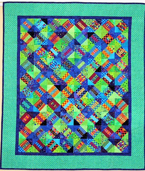 Dots n Checks Quilt made by The Gourmet Quilter
