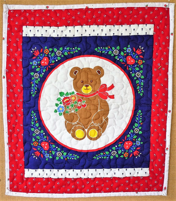 Teddy Bear Quilt by The Gourmet Quilter
