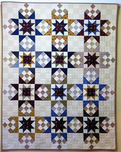 Stars Handmade Quilt by The Gourmet Quilter