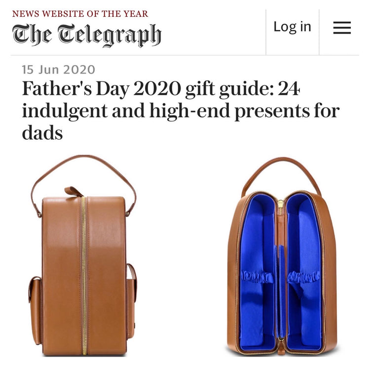 Telegraph Luxury chooses our David Wine Carrier as the perfect Father's Day gift