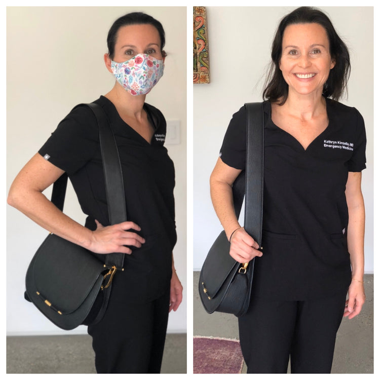 Meet a true hero, Dr. Katy Kinsella, the recipient of our Jane Saddle bag for her tireless work combating COVID-19